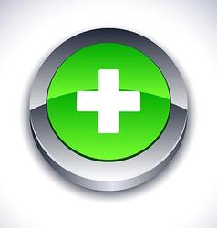Switzerland 3d button vector image