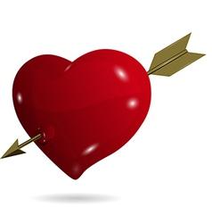 symbolic heart with arrow vector image vector image