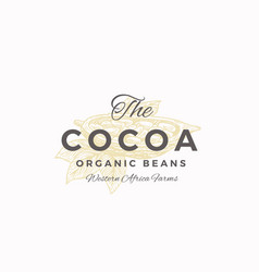the cocoa organic beans abstract sign vector image