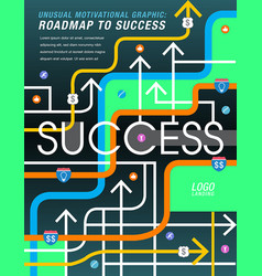 The road to success is mapped out vector