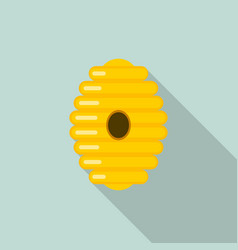 tree bee hive icon flat style vector image