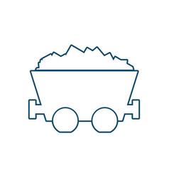 trolley mine wagon vector image