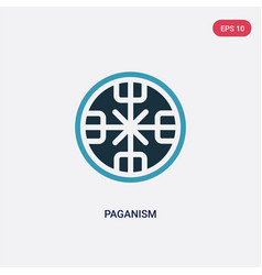 Two color paganism icon from religion concept vector