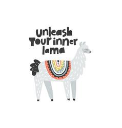 Unleash your inner lama vector
