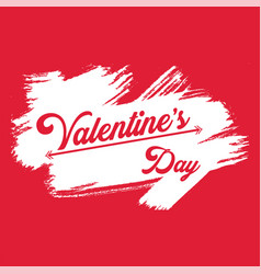 Valentine day white brush image vector