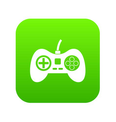 video game console controller icon digital green vector image