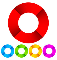 Vivid segmented circles vector