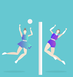 volleyball game female vector image