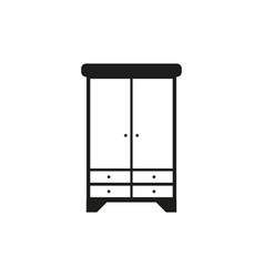 wardrobe icon flat stylegrey background vector image