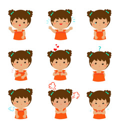 xavariety girl face expression vector image