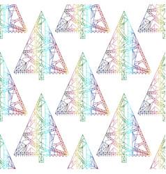 Xmas tree pattern abstract christmas seamless vector