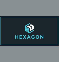 Xu hexagon logo design inspiration vector