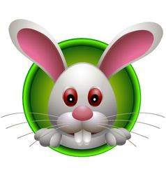 cute rabbit head cartoon vector image