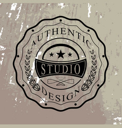 isolated badge for you design vector image vector image