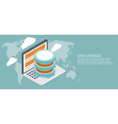 modern flat isometric global data vector image