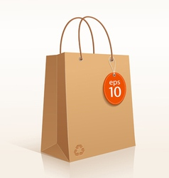 Recycle brown bag vector image