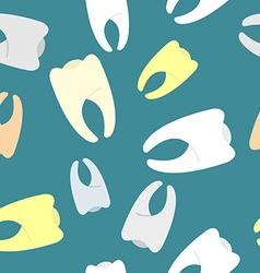 Colored teeth background Seamless pattern dentist vector image vector image