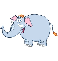 Elephant Cartoon Mascot Character vector image vector image