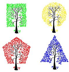 geometric shape tree vector image