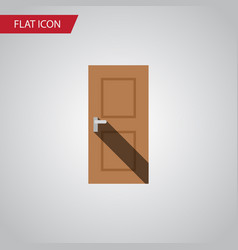 isolated door flat icon entrance element vector image vector image