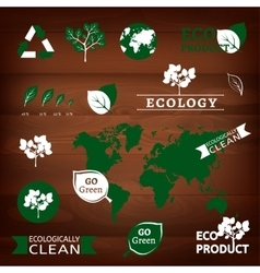 logos and eco signs vector image