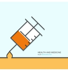 outline flat design of health and medical vector image vector image