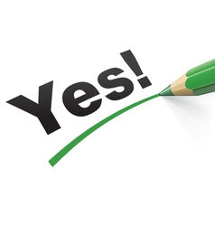 Pencil check Yes vector image vector image