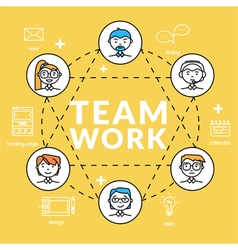 Teamwork concepts of team vector image