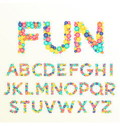 colorful font and alphabet letters best for fun vector image