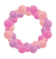 pink baby girl birthday party pom poms vector image