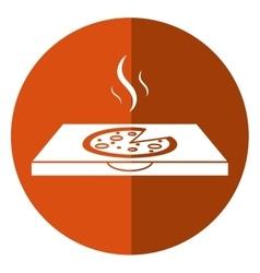 pizza delivery box shadow vector image