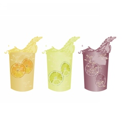 Summer cocktail fresh drinks vector image