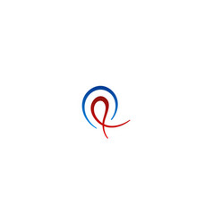 abstract curl logo vector image