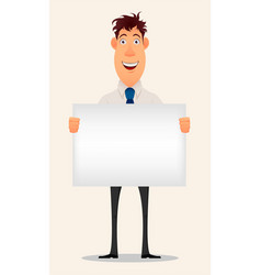 business man cartoon character smiling vector image vector image