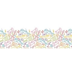 Musical instruments horizontal seamless pattern vector image