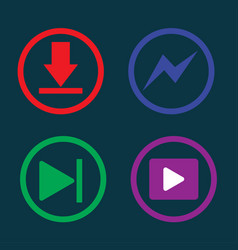 play music downloading icon vector image