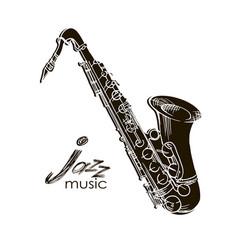 saxophone jazz legend vector image