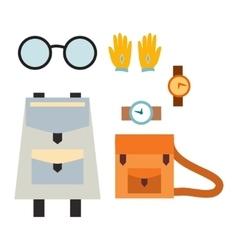School bag and accessory vector