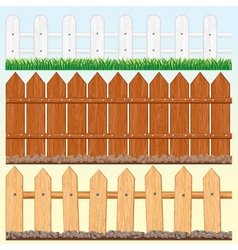 seamless fences set vector image