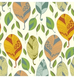 Seamless pattern with abstract leaf vector image