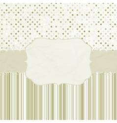 Vintage dots card vector image