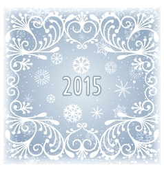 Winter frosty background vector image