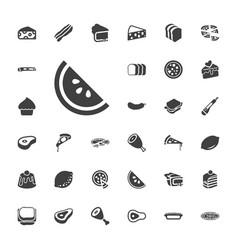 33 slice icons vector