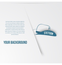 Abstact hat template Corporate icon vector image