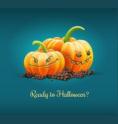 Angry pumpkins for halloween vector