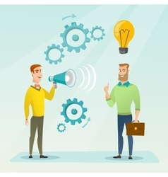 Announcement for business idea vector