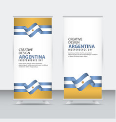 Argentina independent day poster creative design vector