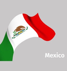 background with mexico wavy flag vector image