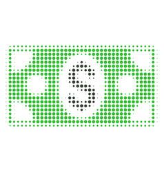 banknote halftone icon vector image