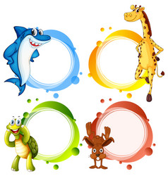 Banner template with wild animals vector